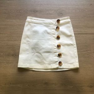 Free People | White Little Daisies Mini Skirt